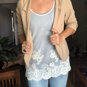 BANANA REPUBLIC lace shirt